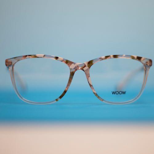Brillengestell aus Kunststoff mit hellem Schildplatt-Muster