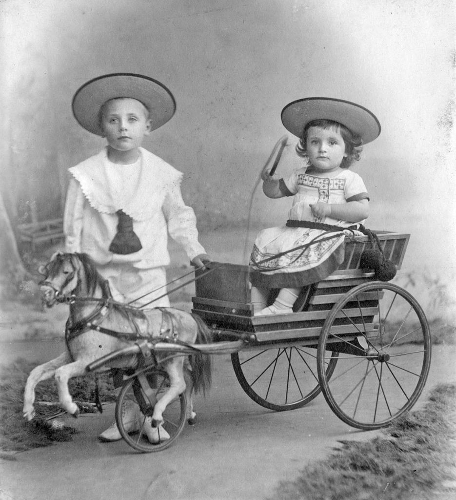 Albrecht und Werner Niederstein im Jahr 1903.